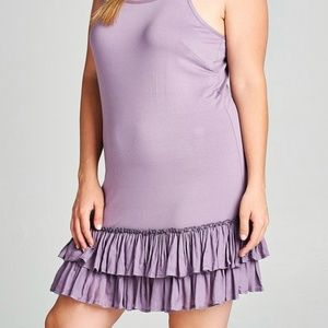🎁Purple PLUS Size Women's Layering Extender Slip.